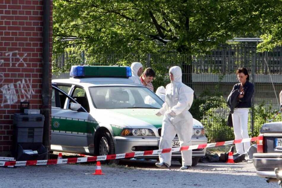 Der Tatort in Heilbronn 2007, nachdem Michele Kiesewetter erschossen wurde.