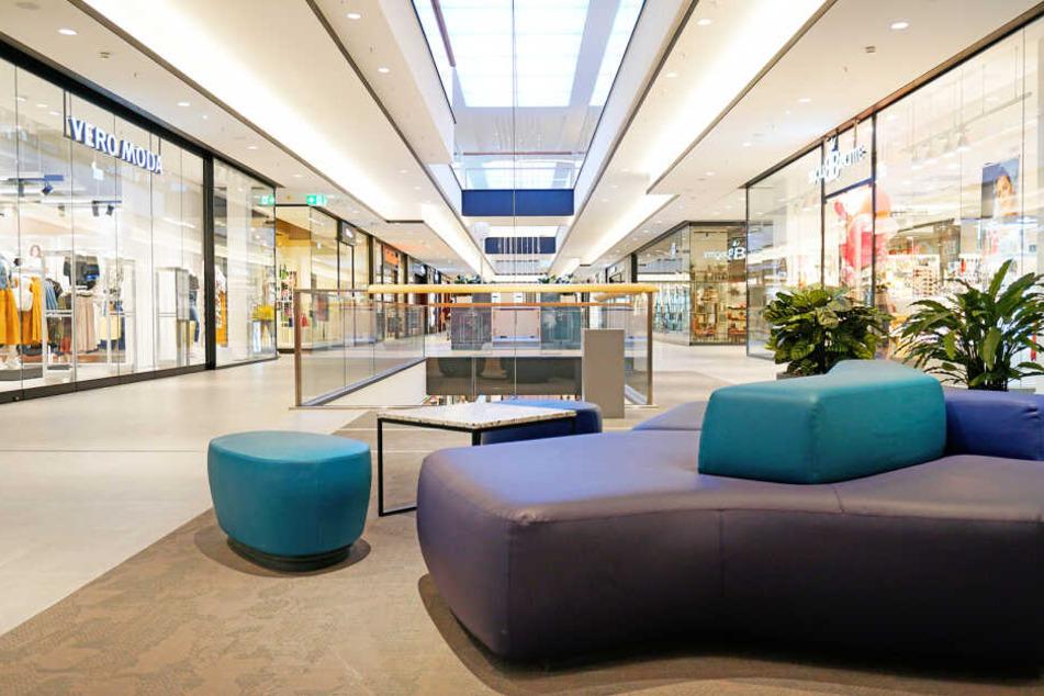 Ansicht der Mall im neuen Einkaufszentrum im Westend.