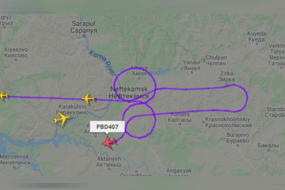 Angeblich verstehen die Piloten das Penis-Manöver als Solidaritätsaktion für den russischen Fußballspieler Artjom Dsjuba.