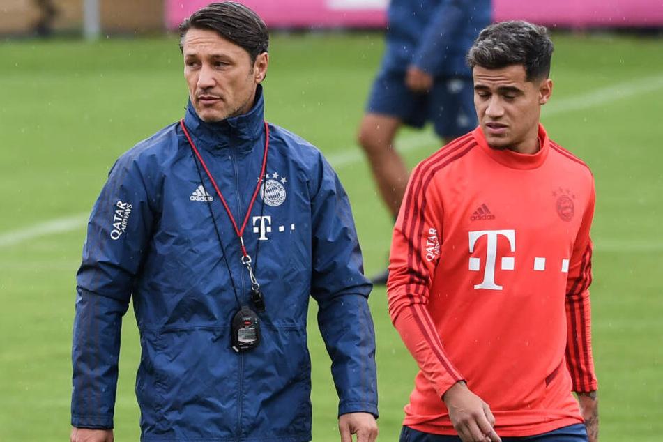 Spielt Bayern-Neuzugang Philippe Coutinho (r.) bereits gegen den FC Schalke 04?
