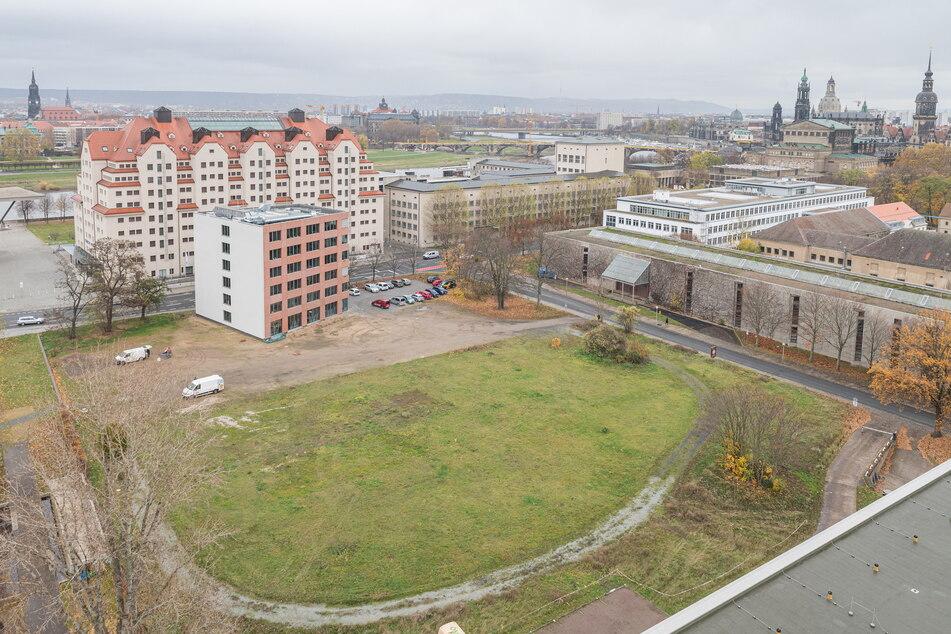 Auf dieser Fläche entsteht ab nächstem Jahr das neue Behördenzentrum des Freistaates.