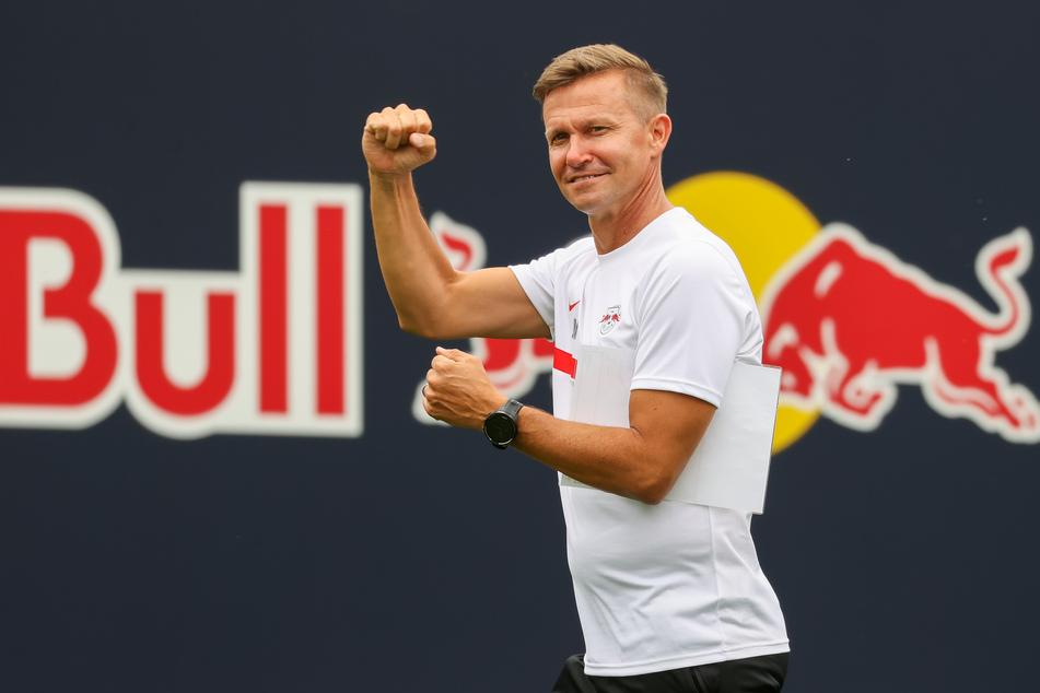 RB Leipzigs neuer Cheftrainer Jesse Marsch (47) spricht schon ziemlich gut die Deutsche Sprache. Trotzdem sieht er noch Verbesserungspotenzial.