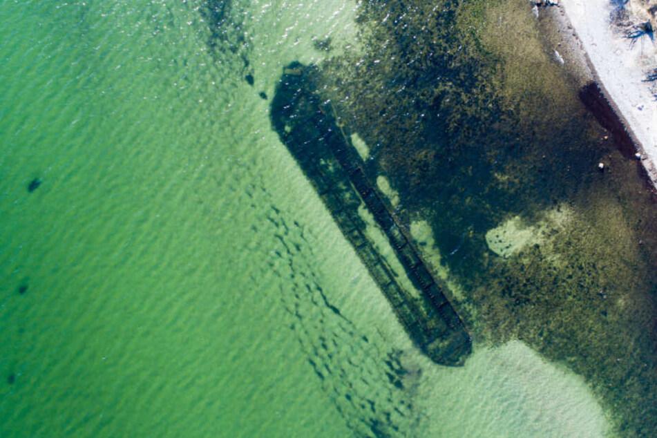 Berlin: Sturm legt altes Schiffswrack auf Rügen frei