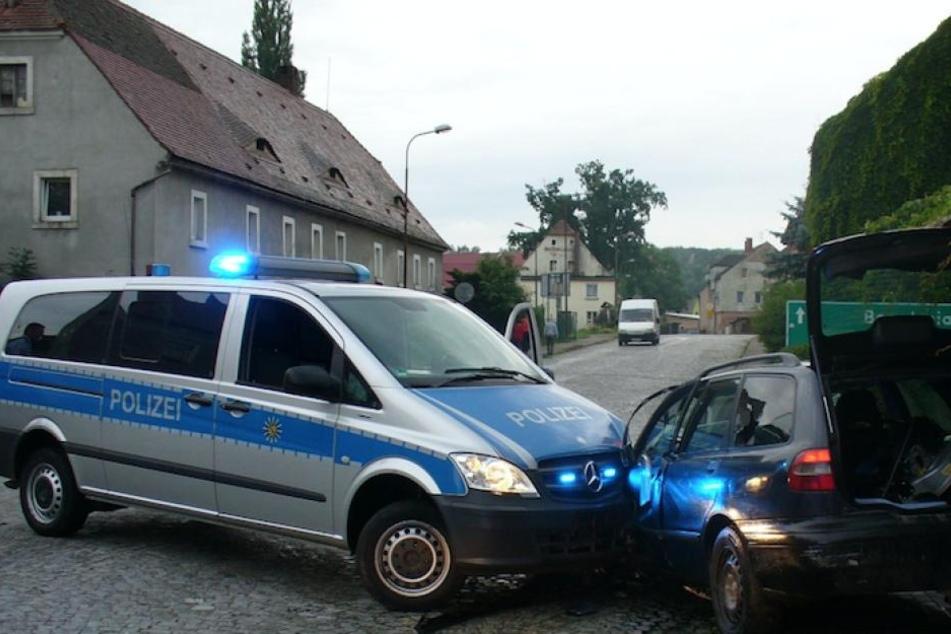 Im polnischen Sieniawka endete die wilde Verfolgungsjagd mit einem Unfall.