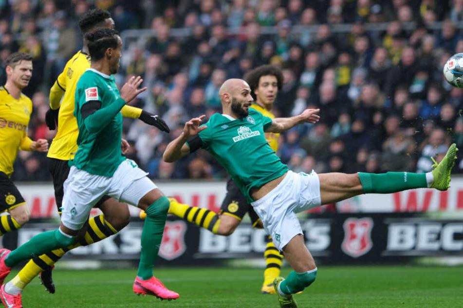 Borussia Dortmund tat sich lange schwer, die Lücken in der Bremer Defensive zu finden.