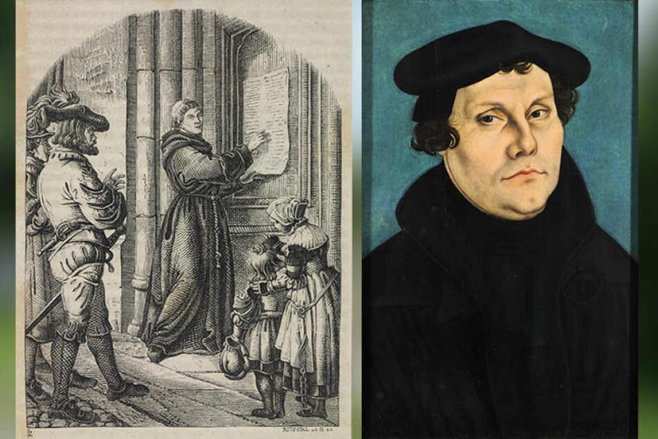 Luthers Thesenanschlag von 1517 wurde zum Symbol für die Erneuerung der  katholischen Kirche.