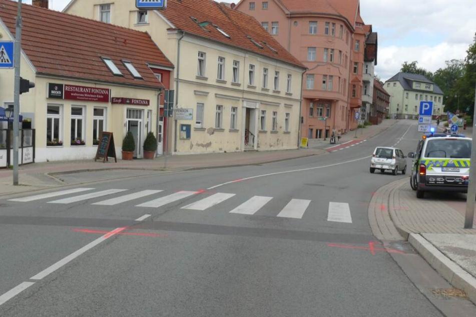 An diesem Zebrastreifen in Havelberg (Kreis Stendal) wurde das Ehepaar überfahren.