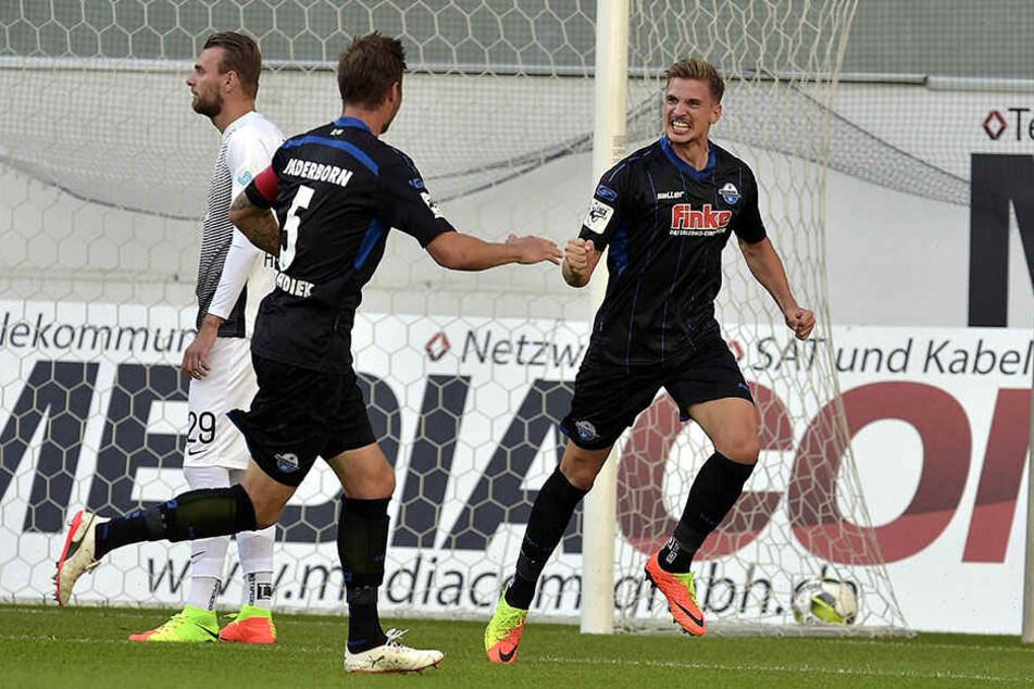 Sie wissen, wie es geht: Im Westfalenpokal gewannen die Paderborner mit 3:1.