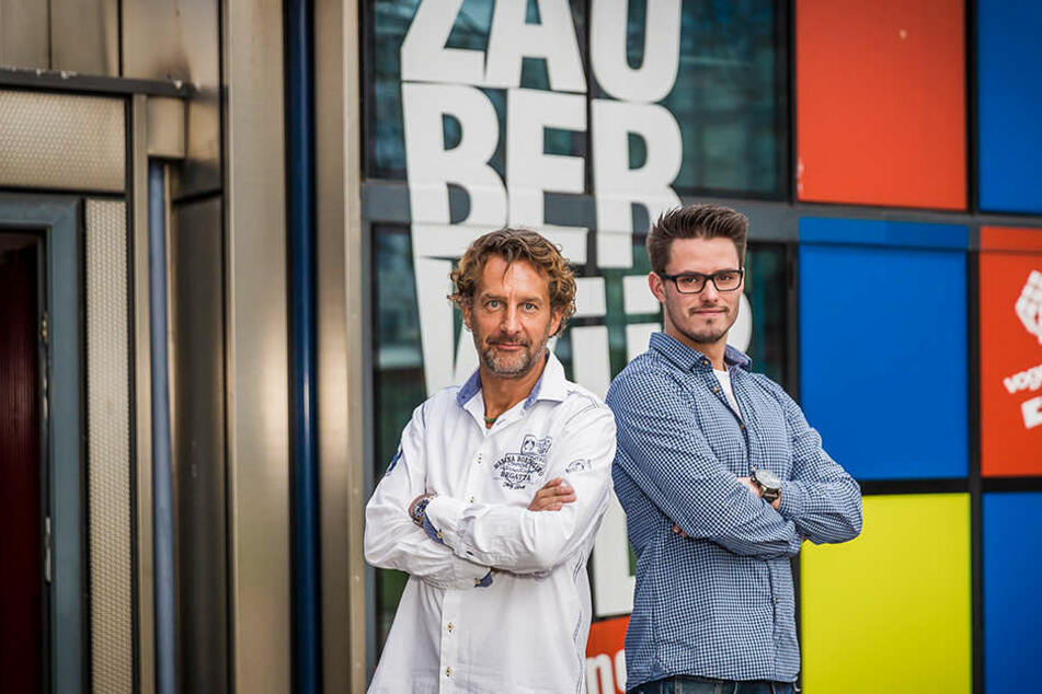 Der eine geht, der andere kommt: Sven Vogel (48, l.) übergibt die Agentur seinem Nachfolger Benjamin Müller (26).