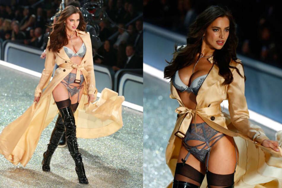 """Verhüllte """"Victoria's Secret""""-Engel Irina Shayk (30) bei der Show am Mittwochabend etwa ein Babybäuchlein?"""