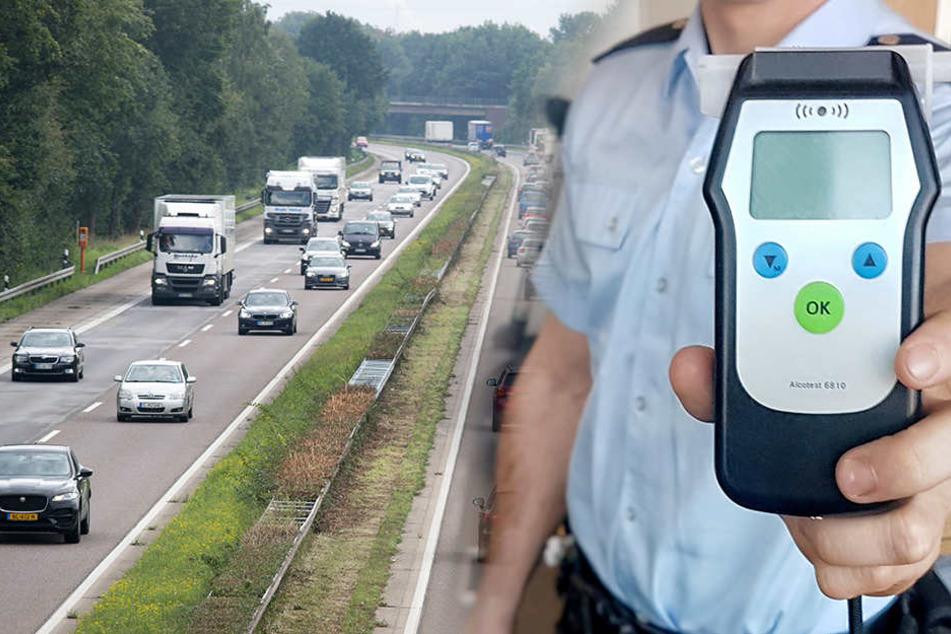 Volltrunkener rast mit fast 5 Promille über die Autobahn