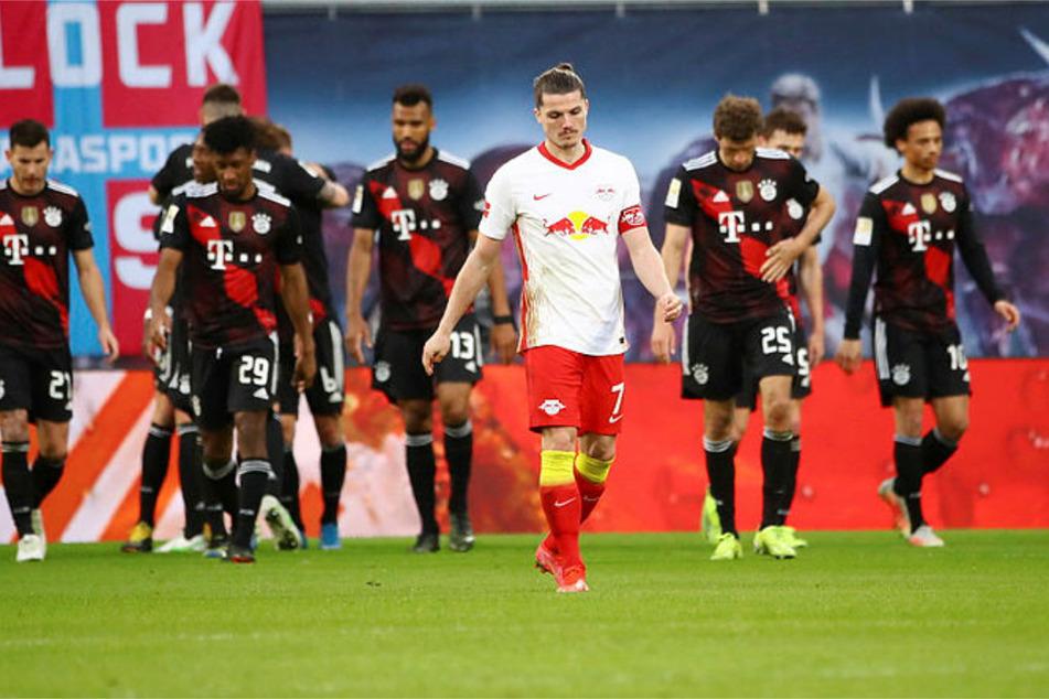 Kapitän Marcel Sabitzer (27) war nach dem Tor der Bayern sichtlich enttäuscht.