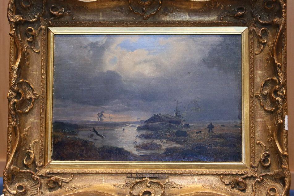 """Das Gemälde """"Skandinavische Landschaft"""" ist eines der Bilder aus dem Besitz von Max Stern, welches bereits an die Nachlassverwalter zurückgegeben werden konnte."""
