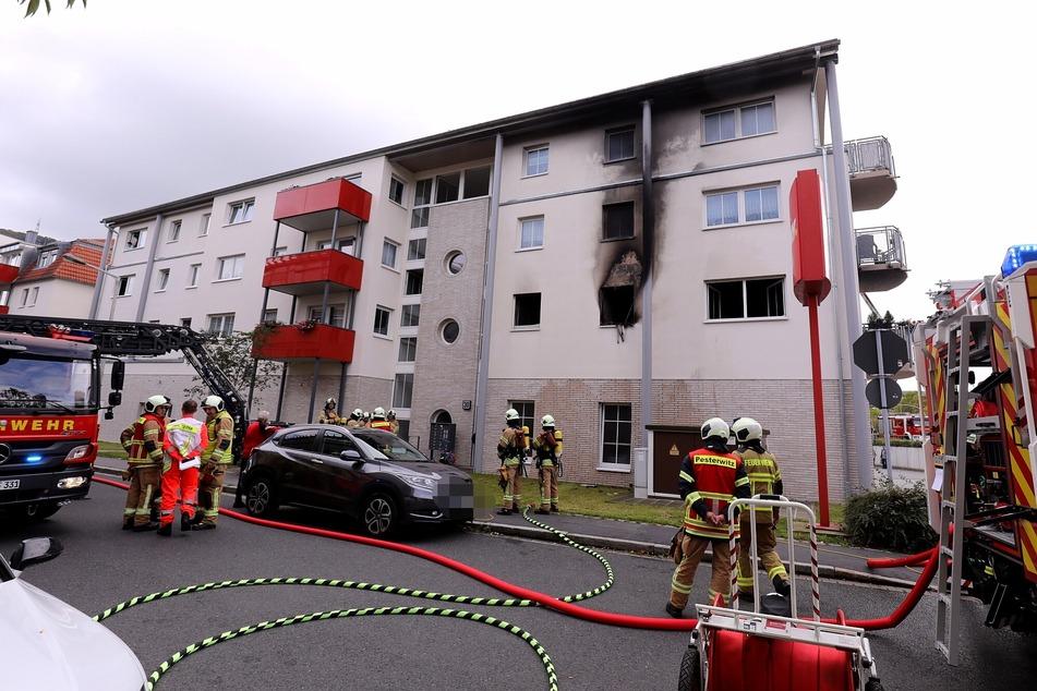 Wohnungsbrand in Freital: Mutter und Kind im Krankenhaus