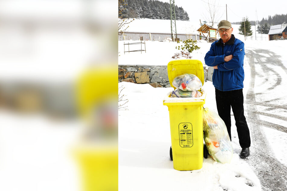 """Streit um gelbe Säcke in Oberwiesenthal: """"Müllabfuhr hat mich vergessen"""""""