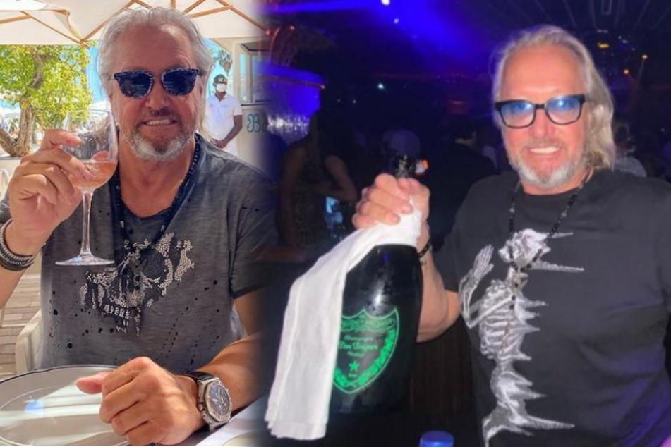 Robert Geiss (57) feierte endlich wieder in einem Club. Dafür gönnte er sich auch eine Magnumflasche Champagner.