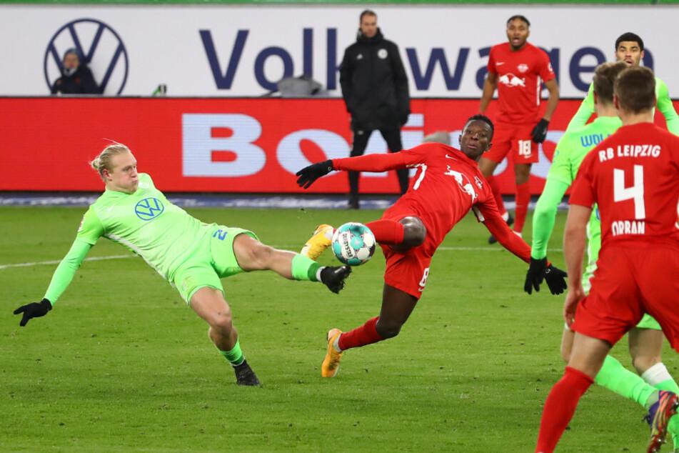 Am Sonntag soll wieder ein Sieg her! Zuletzt hatte RB gegen Wolfsburg in er Bundesliga nur ein Unentschieden rausgeholt. (Archivbild)