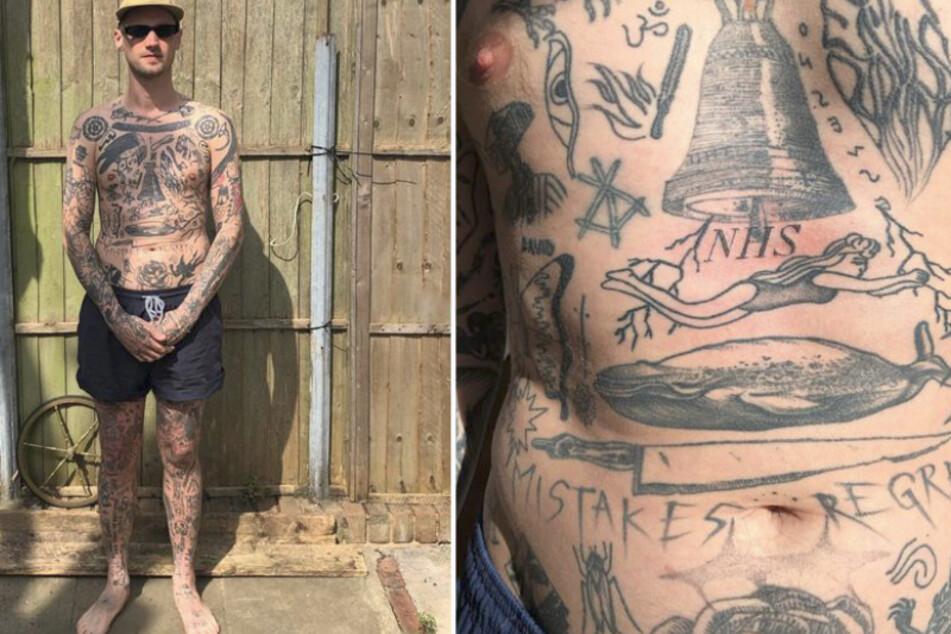 Mann sticht sich in Quarantäne täglich ein neues Tattoo