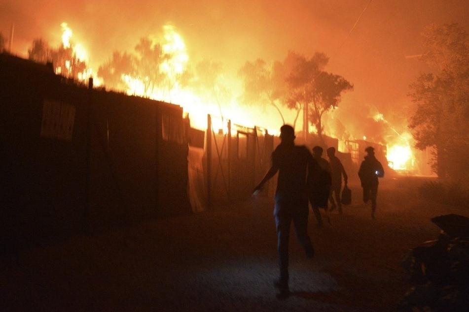 Anfang September wird das Flüchtlingslager Moria bei einem Brand komplett zerstört. (Symbolfoto)
