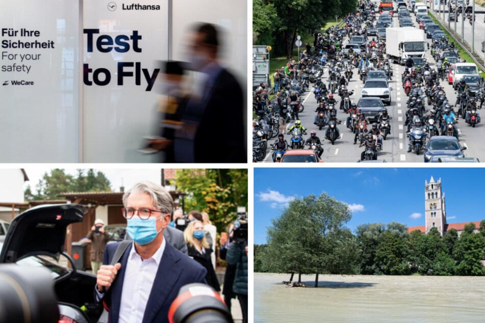 Das war 2020: Motorrad-Demos, Hochwasser und Test-Pannen in Bayern