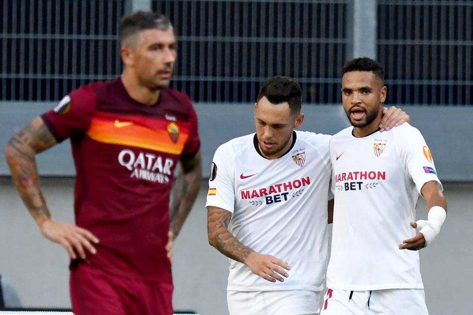 Youssef En-Nesyri (23, r.) ist mit 17 Treffern in 33 Einsätzen der beste Torschütze des FC Sevilla.