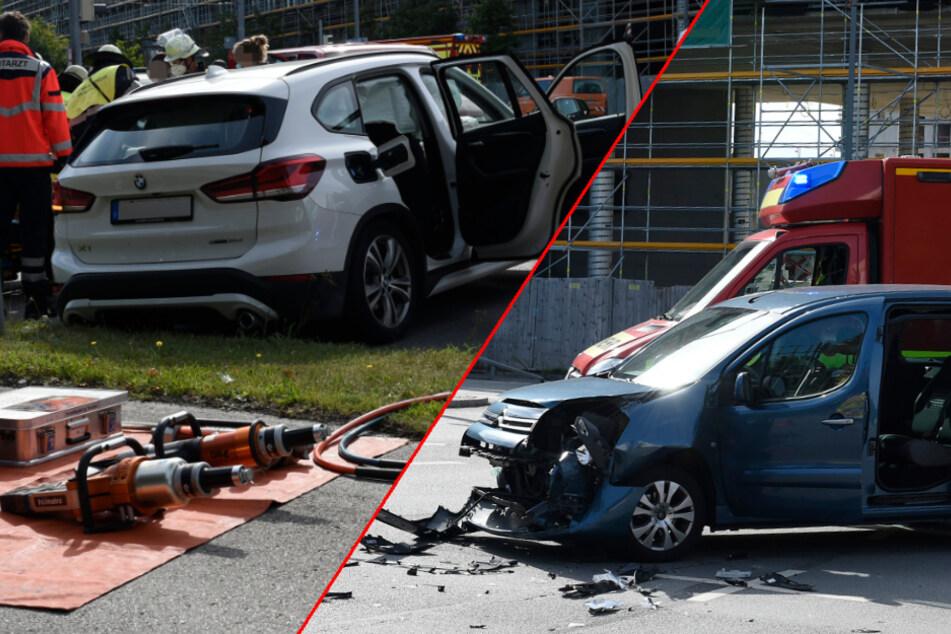 Citroën kracht auf Münchner Kreuzung in BMW: Fahrer muss notärztlich versorgt werden