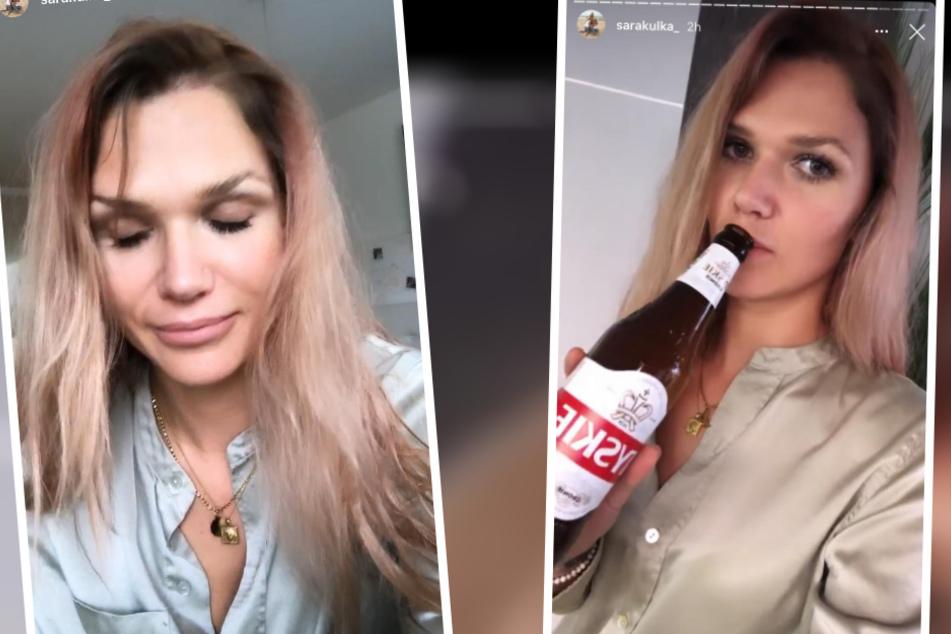 Nach dem Termin war dann der Ärger jedoch groß und Sara musste sich gleich einmal ein Bier gönnen.