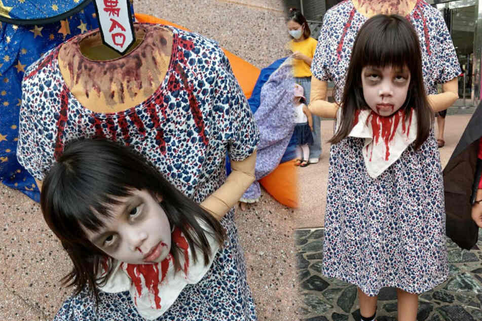 Little girl shocks people with creepiest Halloween costume ever