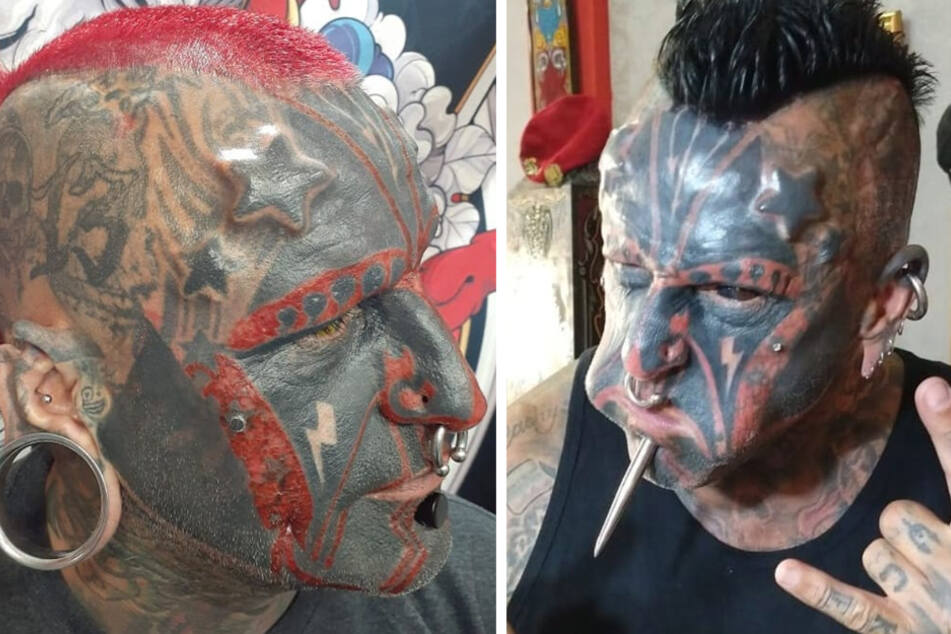 Victor Hugo Peralta Rodriguez has been tattooed by over 80 different artists, with 95% of his body covered in ink.