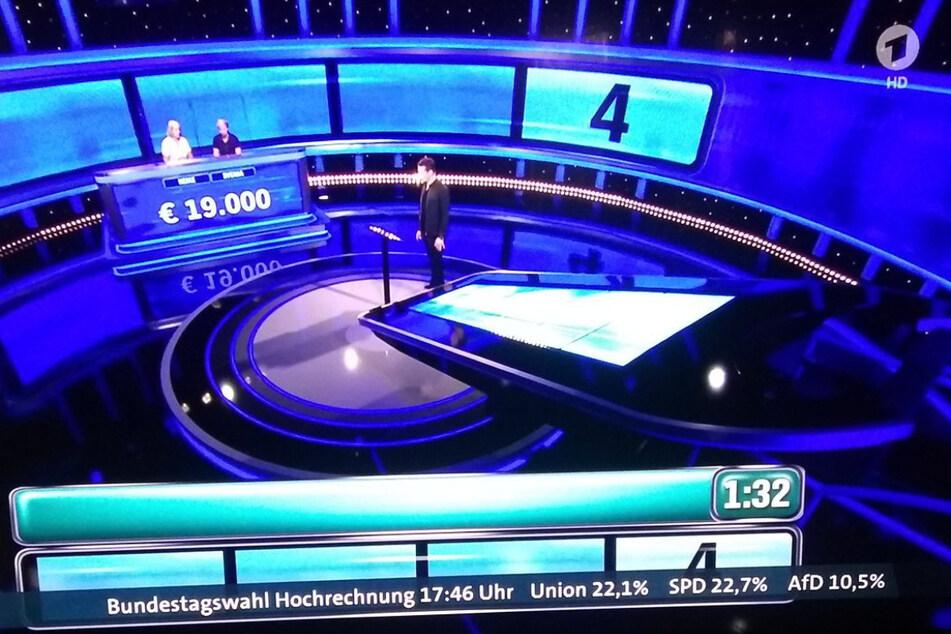 Da staunten viele Zuschauer, als am Freitag plötzlich eine - fiktive - Hochrechnung durch das aktuelle Programm der ARD lief.
