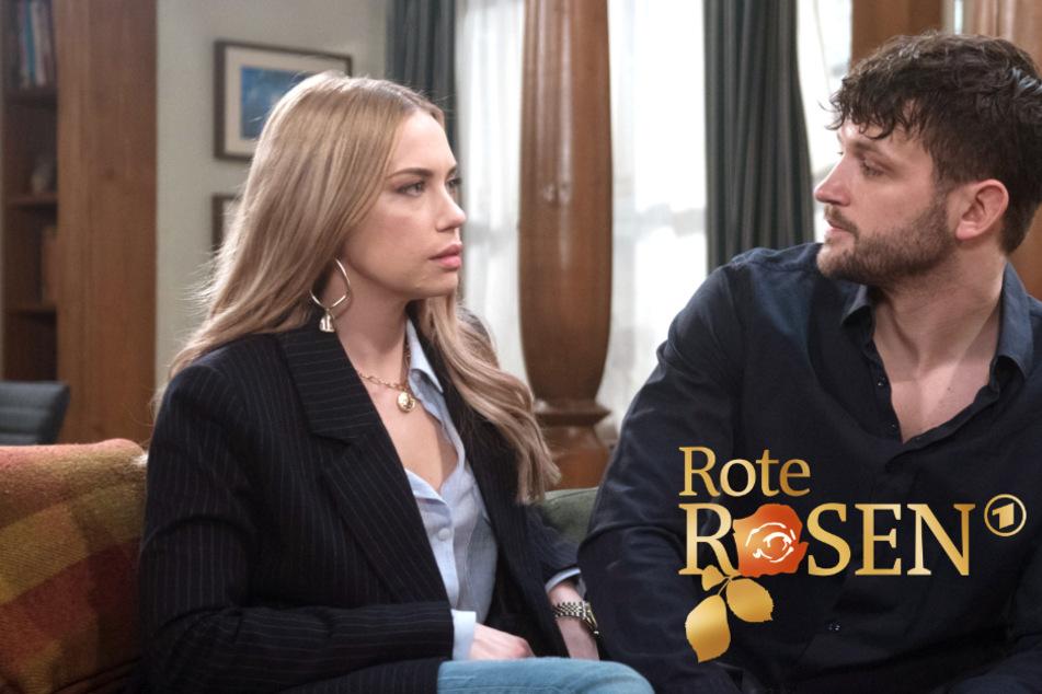 Rote Rosen: Amelie sucht Trost in Davids Armen.