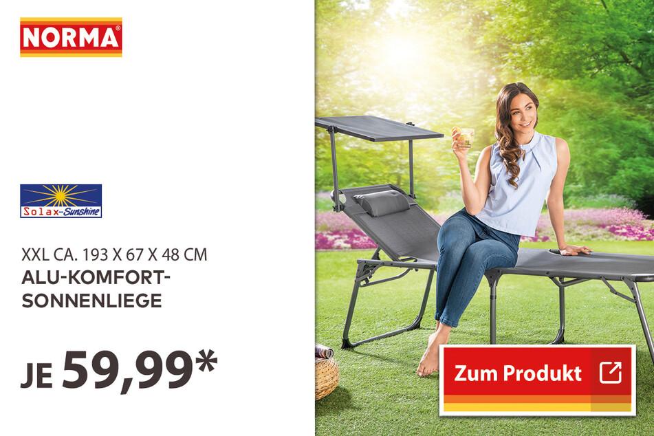 Alu-Komfort-Sonnenliege für 59,99 Euro