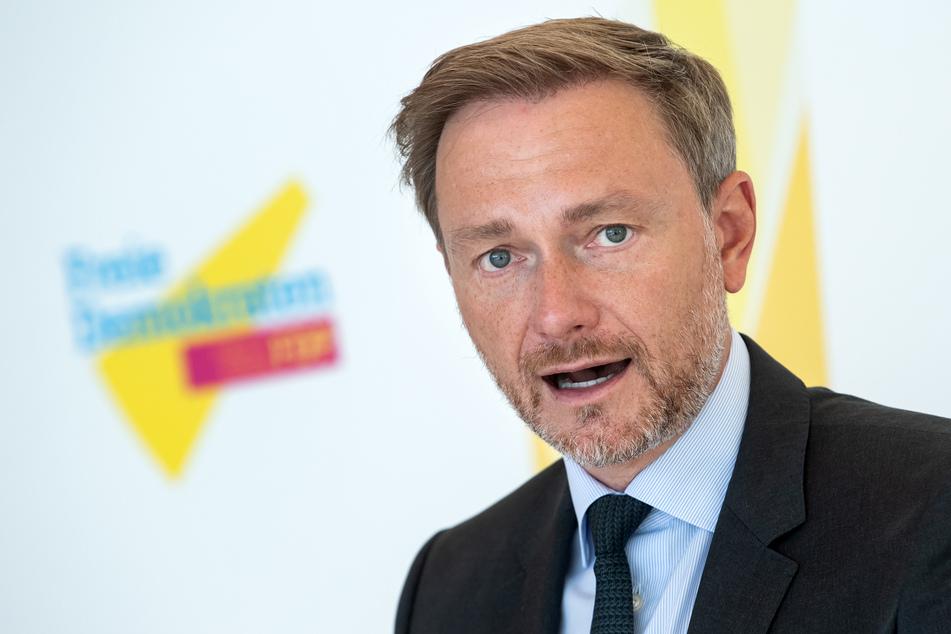 Christian Lindner (42, FDP) sprach am Donnerstag über die Umweltversprechen seiner Partei.