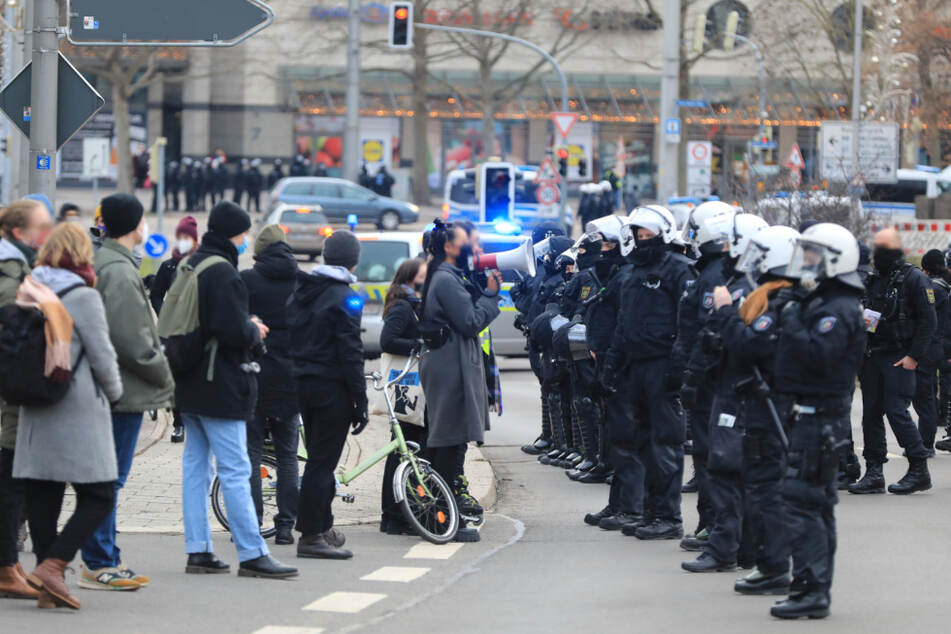 Die Polizei im Einsatz.