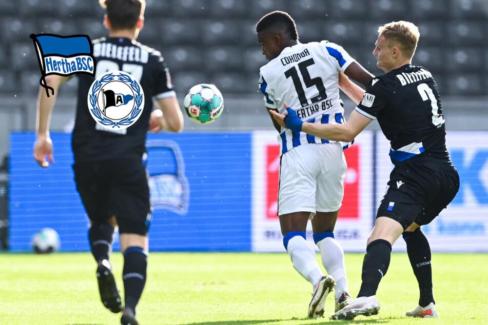 Nullnummer gegen Bielefeld: Hertha quält sich zu einem Punkt im Abstiegskampf