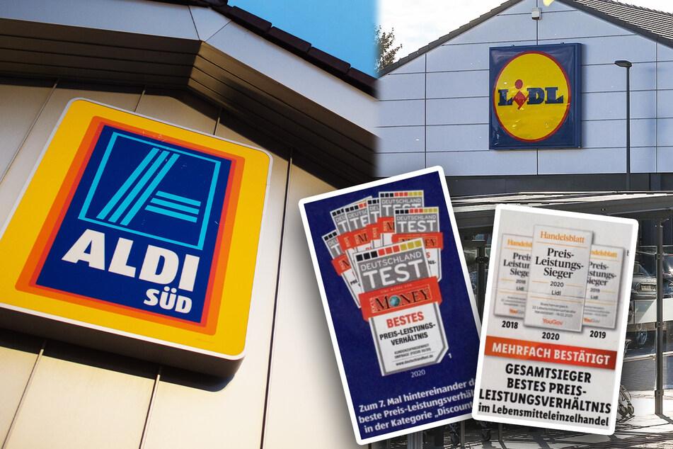 """Aldi und Lidl präsentieren sich zeitgleich als """"Preis-Leistungs-Sieger"""": Was ist dran am Titel?"""