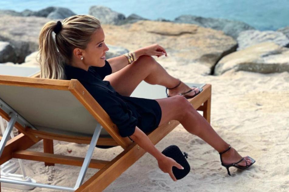 Die Moderatorin lässt es sich in St. Tropez gut gehen.