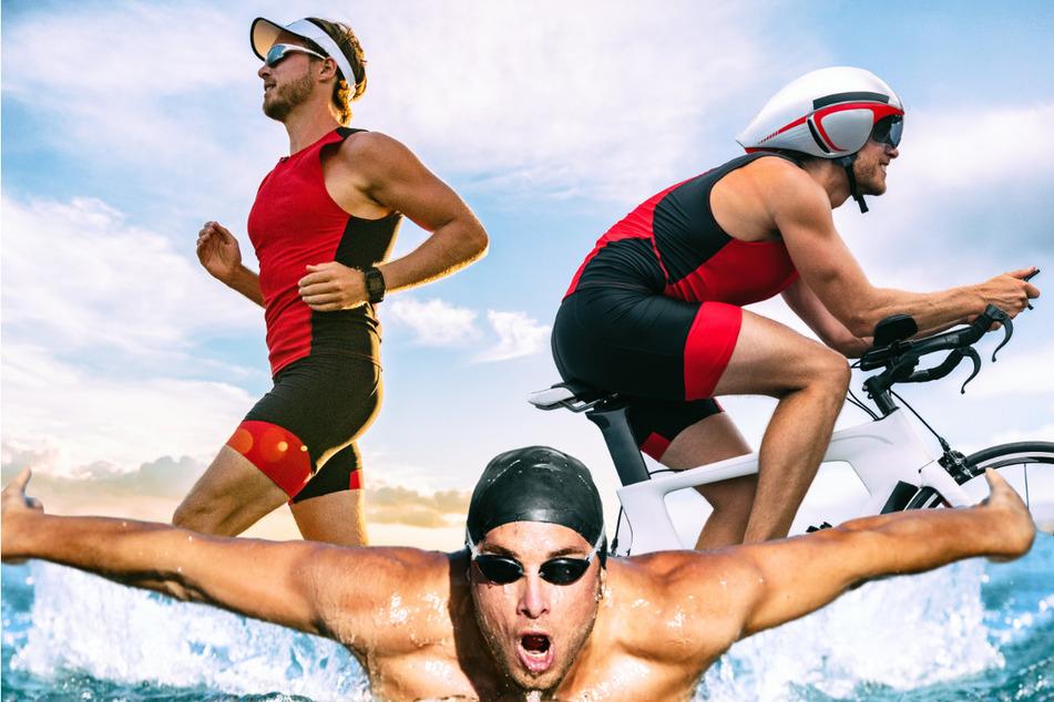 Ein Ironman-70.3-Rennen besteht aus 1,9 Kilometer Schwimmen, 90 Kilometer Radfahren und 21,1 Kilometer Laufen.