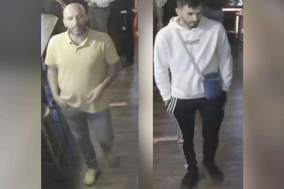 Mit Bildern fahndet die Polizei nach zwei mutmaßlichen Erpressern, die im Juni einen 57-Jährigen in einer Kölner Gaststätte bedrängt haben sollen.