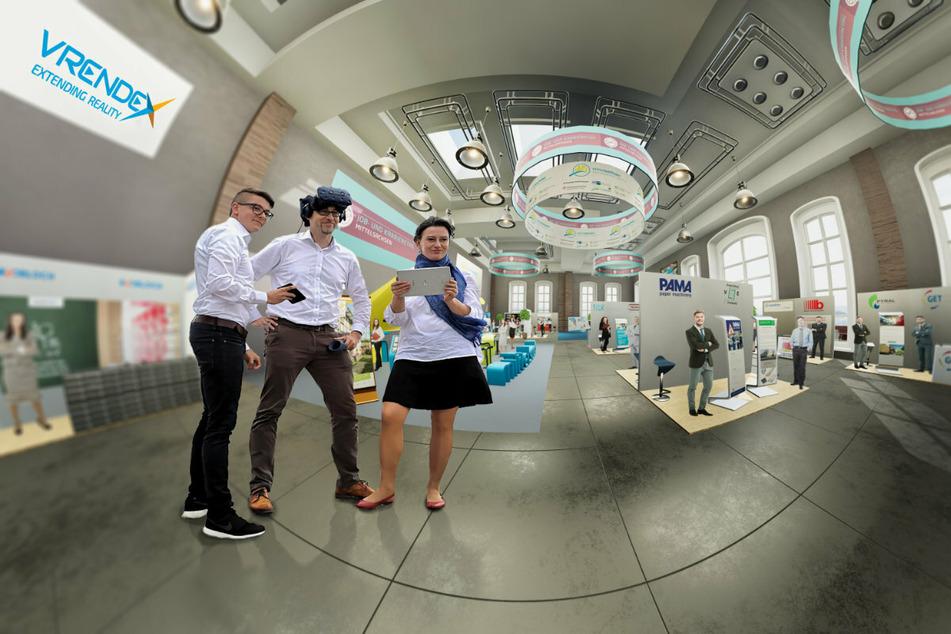 Das Gründerteam Leon Langhans, Manuel Dudczig und Christine Winkler-Dudczig (v.l.n.r.) hat für den Landkreis Mittelsachsen jüngst den virtuellen Job- und Karrieretag gestaltet.