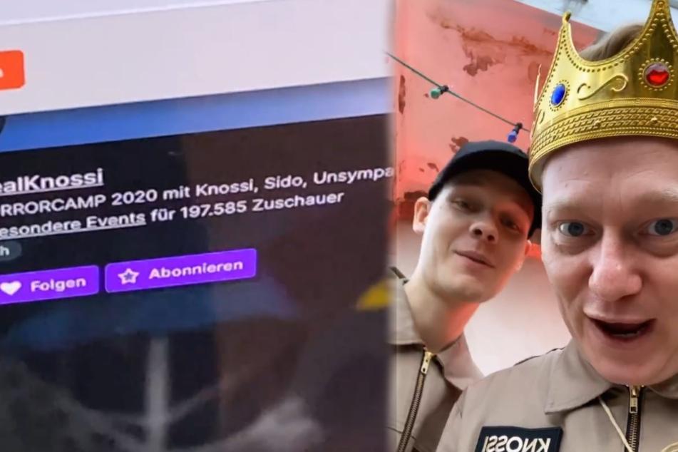 Knossi (34, r.) und Sascha Hellinger (25) freuen sich über einen neuen Zuschauerrekord. (Fotomontage)