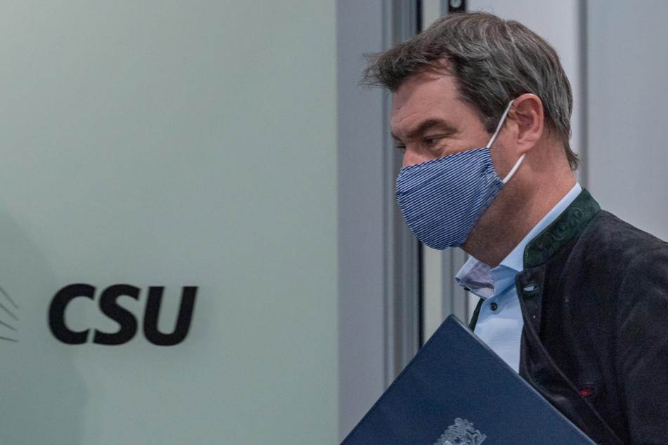 Bayerns Innenminister Markus Söder (CSU) führte den Freistaat als erstes Bundesland in den Lockdown. (Archiv)