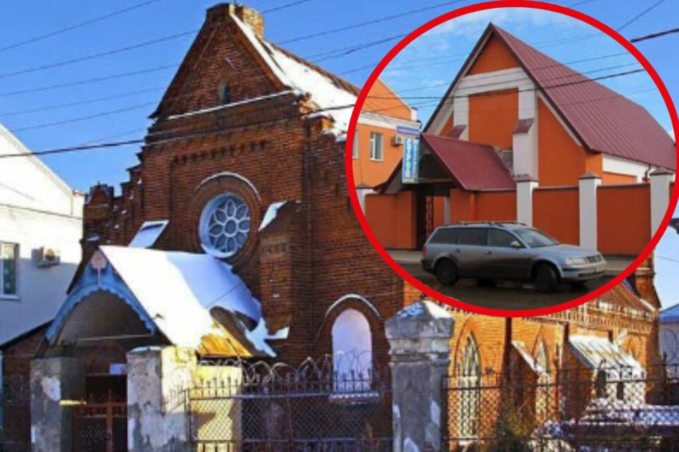 Dieser Vorher-Nachher-Vergleich einer Kirche in Russland sorgt für Entsetzen im Netz.