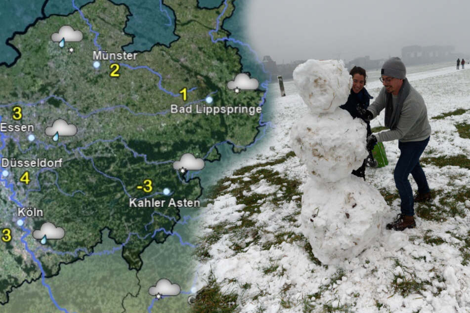 Schnee-Freude in NRW nur von kurzer Dauer