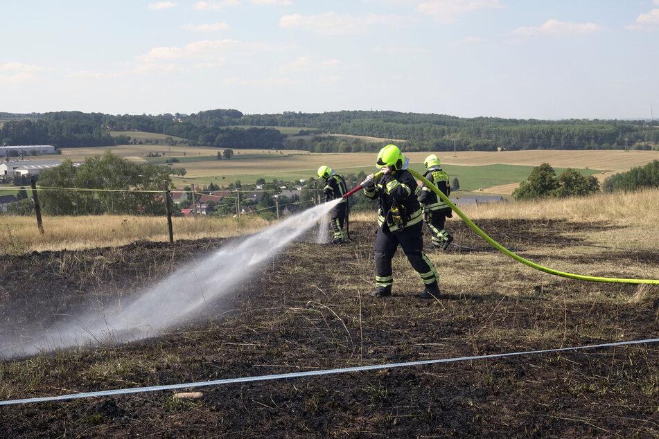 In Euba brannte am Samstagvormittag ein Feld.