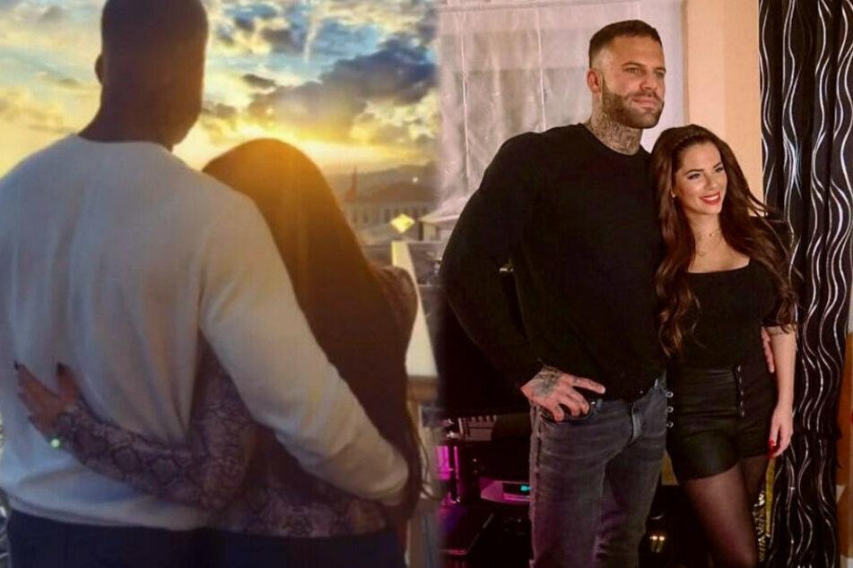 Da war die Welt noch in Ordnung: Jenny Frankhauser (27) zeigte sich mit Steffen König oftmals verliebt auf Instagram. (Fotomontage)