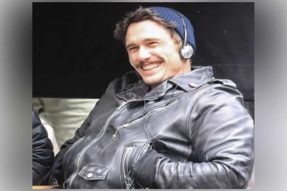 James Franco filming his TV show The Deuce, which chronicled sex workers and the porn industry in New York City.