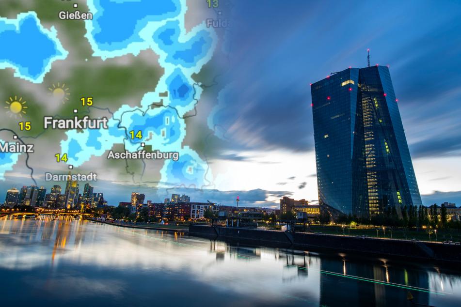 Auch in Frankfurt wird es im Laufe des Dienstags immer wieder zu Regen und auch zu Gewittern kommen.