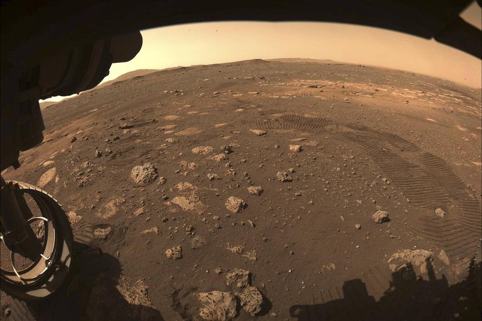 """Der Mars-Rover """"Perseverance"""" sendete vor etwa einem Monat dieses Bild vom roten Planeten."""