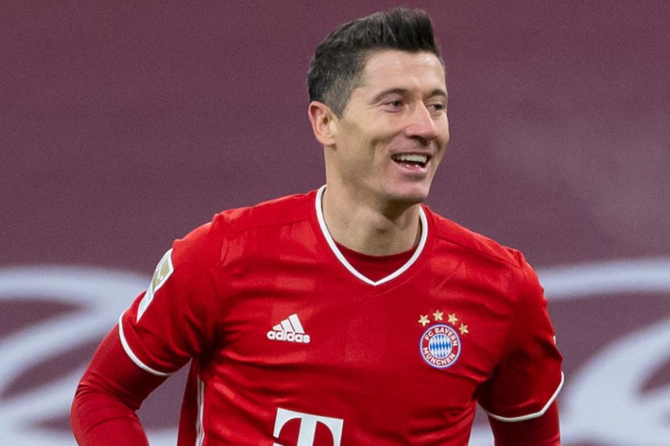 Robert Lewandowski (32) erzielte beim 5:2 über Mainz 05 am Sonntag seine Treffer 18 und 19 in der laufenden Bundesliga-Saison.